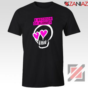 Pink Eyes Skull 5SOS Black Tshirt