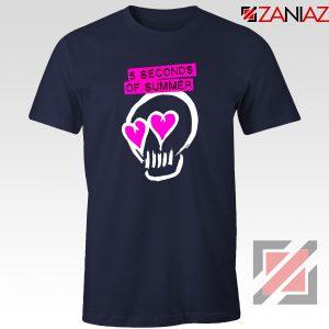 Pink Eyes Skull 5SOS Tshirt 5 Seconds of Summer Tees S-3XL