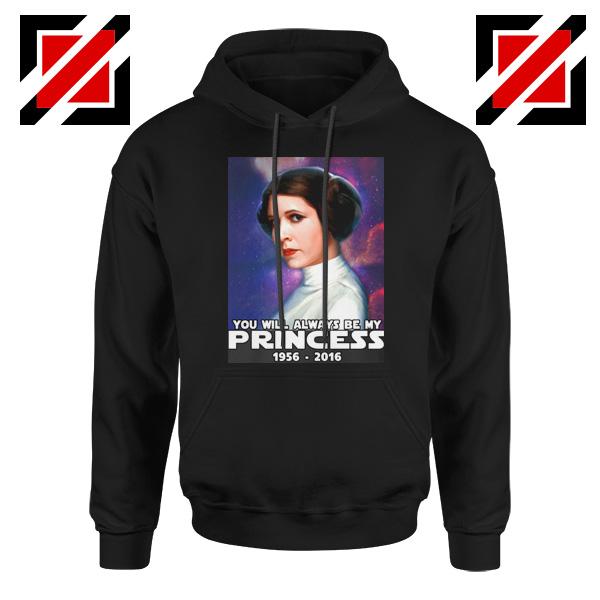 Princess Carrie Fisher Hoodie Star Wars Films Hoodies S-2XL Black