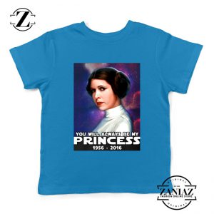 Princess Carrie Fisher Kids Tee Shirt Star Wars Films Youth Tshirts S-XL