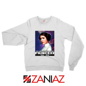 Princess Carrie Fisher Sweatshirt Star Wars Films Sweaters S-2XL White