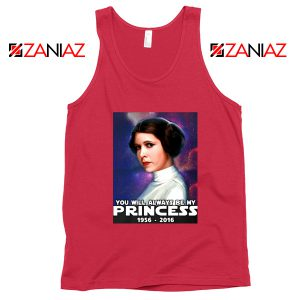 Princess Carrie Fisher Tank Top Star Wars Films Tops S-3XL Red