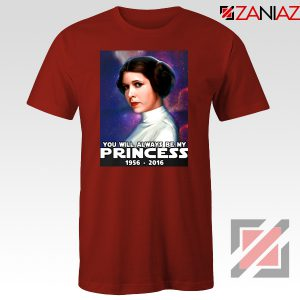 Princess Carrie Fisher Tshirt Star Wars Films Tee Shirts S-3XL Red