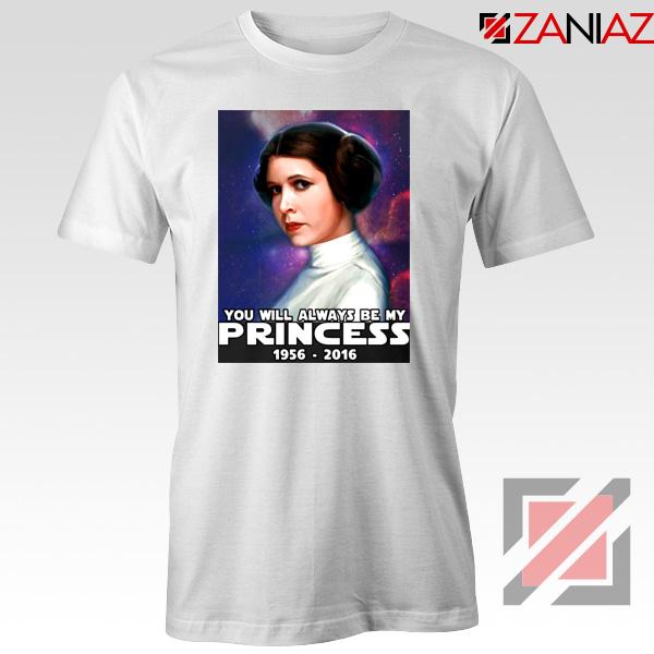 Princess Carrie Fisher Tshirt Star Wars Films Tee Shirts S-3XL White