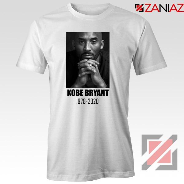 RIP Kobe Bryant White Tshirt