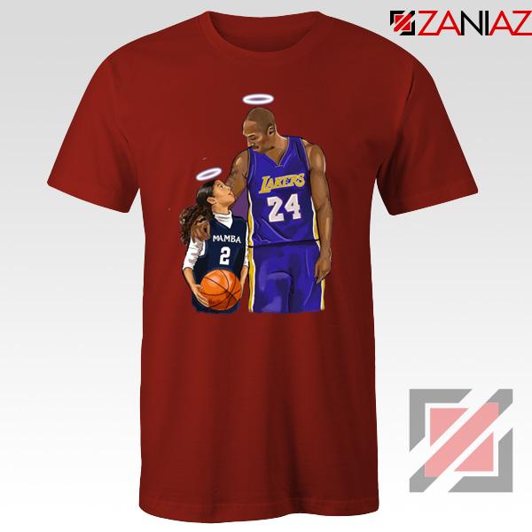RIP Kobe and Daughter Red Tshirt