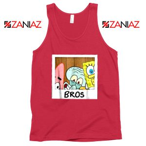 Spongebob Squarepants BROS Red Tank Top