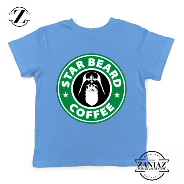 Star Beard Coffee Kids Tshirt Funny Star Wars Youth Tee Shirts S-XL