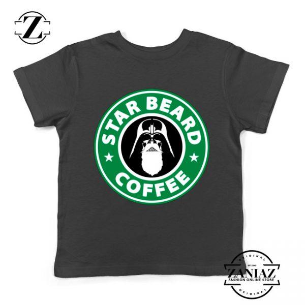 Star Beard Coffee Kids Tshirt Funny Star Wars Youth Tee Shirts S-XL Black
