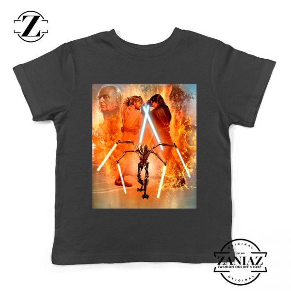 Star Wars Celebration Mural Trilogy Youth Tshirt Star Wars Kids Tee Shirts S-XL Black