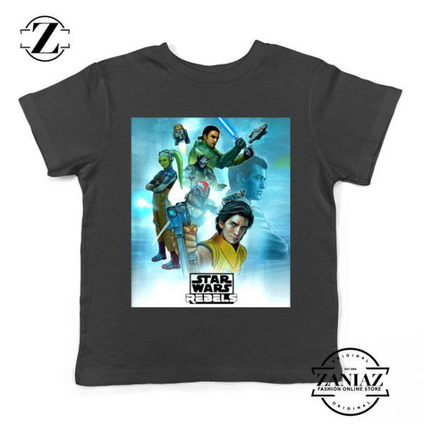 Star Wars Rebels Kids Tshirt Star Wars Season 4 Youth Tee Shirts S-XL Black