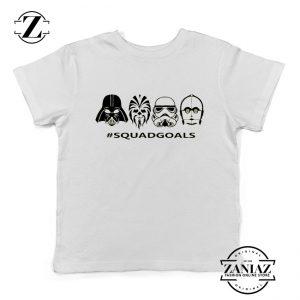 Star Wars Squad Goals Youth Tshirt Star Wars Characters Kids Tee Shirts White