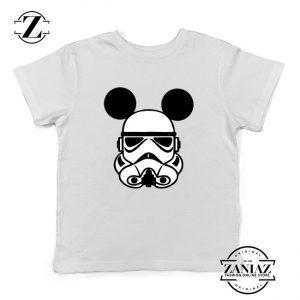 Stormtrooper Mickey Ears Kids Tshirt Star Wars Disney Youth Tee Shirts White