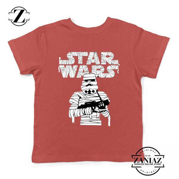 Stormtrooper Mummy Kids Tshirt Star Wars Halloween Youth Tee Shirts S-XL Red