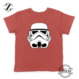 Stormtroopers Helmet Kids Tshirt Star Wars Empire Youth Tee Shirts S-XL Red