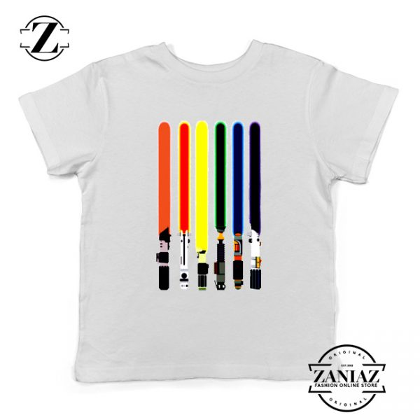 Swords Colors Youth Tshirt Swords Of Star Wars Kids Tee Shirts S-XL