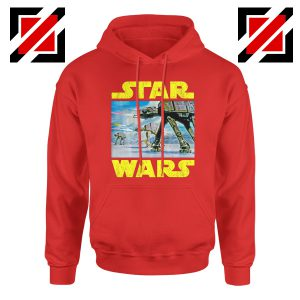 The Battle of Hoth Hoodie Star Wars Gift Hoodies S-2XL Red
