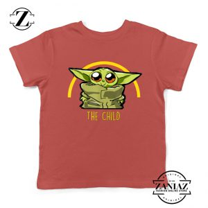 The Child Is So Cute Red Kids Tshirt