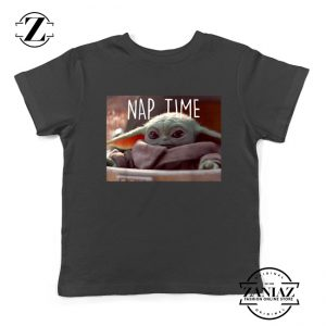 The Child Nap Time Black Kids Tee