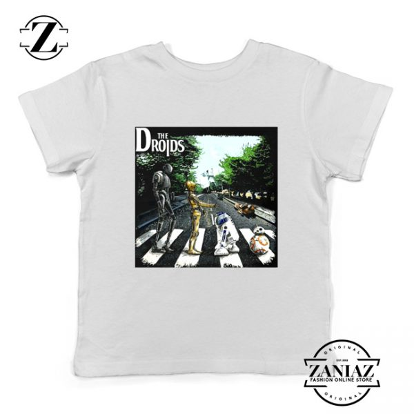 The Droids Kids Tshirt The Abbey Road Star Wars Youth Tee Shirts White
