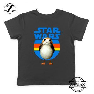 The Porg Kids Tshirt Jedi Master Star Wars Best Youth Tee Shirts S-XL Black