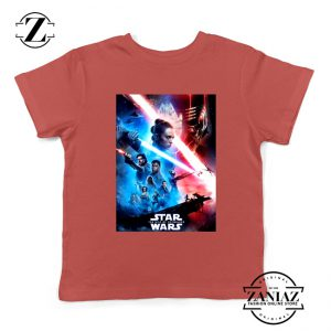 The Rise Of Skywalker Poster Kids Tshirt Star Wars Youth Tee Shirts S-XL