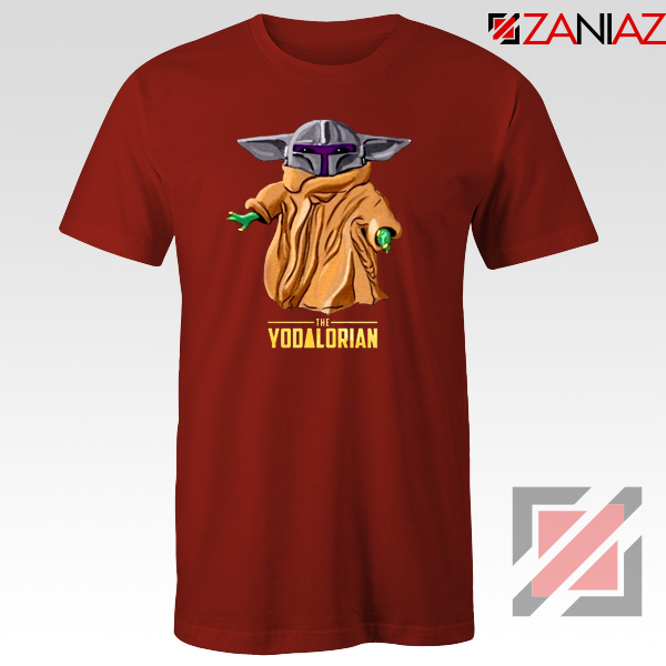 The Yodalorian Tshirt Baby Yoda Star Wars Tee Shirts S-3XL Red
