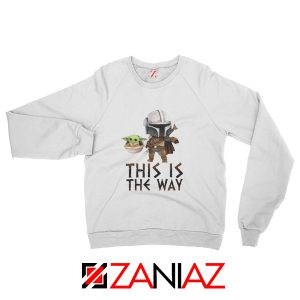 This Is The Way Baby Yoda White Sweater