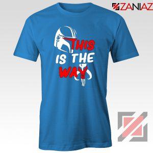 This Is The Way Tshirt The Mandalorian Tee Shirts S-3XL Blue