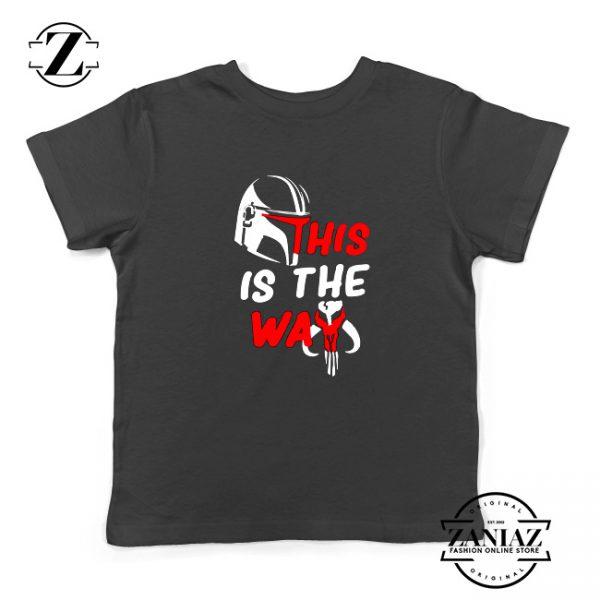 This Is The Way Youth Tshirt The Mandalorian Kids Tee Shirts S-XL Black