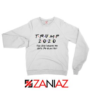Trump 2020 Sweatshirt Republican Gift Sweater S-2XL White