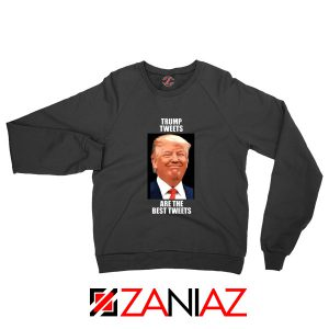 Trump Tweets Sweatshirt Political Meme Funny Sweater S-2XL Black