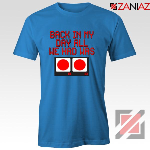 Video Game Blue Tshirt Nintendo
