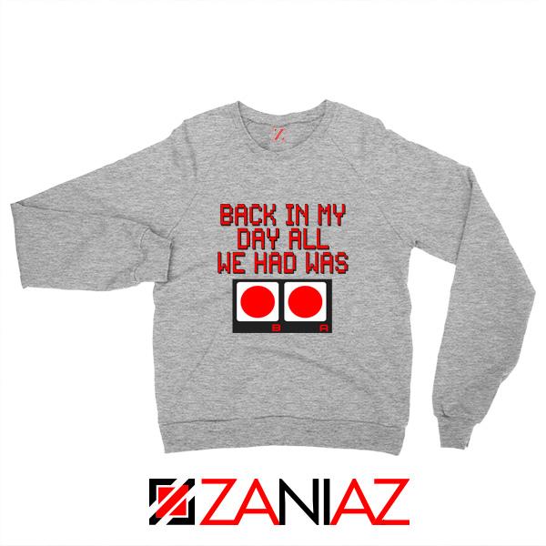 Video Game Sweater Nintendo Gifts Sweatshirts Size S-2XL