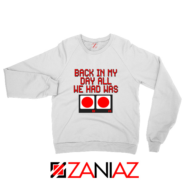 Video Game White Sweater Nintendo