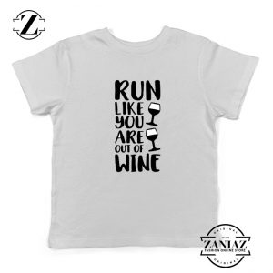 Womens Running Kids Shirts Funny Gym Best Youth T-Shirt Size S-XL White