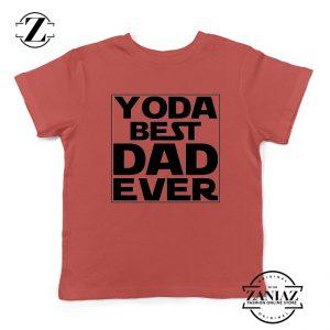 Yoda Best Dad Kids Tshirt Starwars Quote Youth Tee Shirts S-XL Red