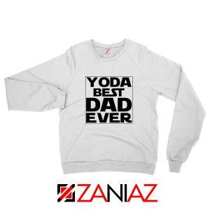 Yoda Best Dad Sweatshirt Starwars Quote Sweater S-2XL White