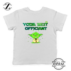 Yoda Best Officiant Kids Tshirt Star Wars Gift Youth Tee Shirts S-XL White