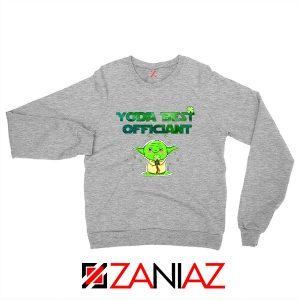 Yoda Best Officiant Sweatshirt Star Wars Gift Sweaters S-2XL