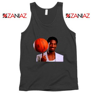 Young Kobe Spin The Ball Black Tank Top