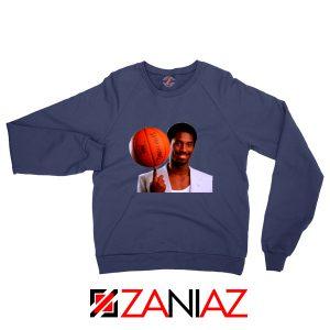 Young Kobe Spin The Ball Navy Sweatshirt
