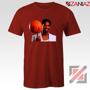 Young Kobe Spin The Ball Red Tshirt