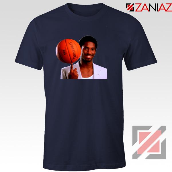 Young Kobe Spin The Ball Tshirt NBA Tee Shirts Gifts S-3XL