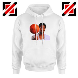 Young Kobe Spin The Ball White Hoodie