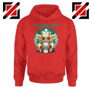 Baby Yoda Hug Starbucks Red Hoodie
