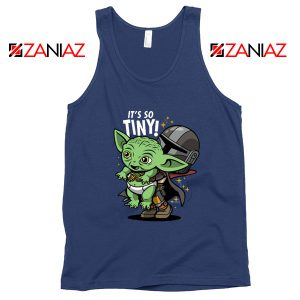 Baby Yoda Its So Tiny Navy Tank Top