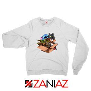 Baby Yoda Kawaii Team White Sweatshirt