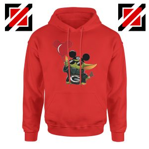 Baby Yoda Mickey Mouse Balloons Red Hoodie