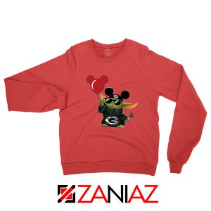 Baby Yoda Mickey Mouse Balloons Red Sweater